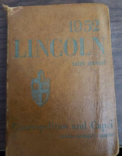 1954 Lincoln Sales Manual, Cosmopolitam & Capri, Complete Handbook for Salesman