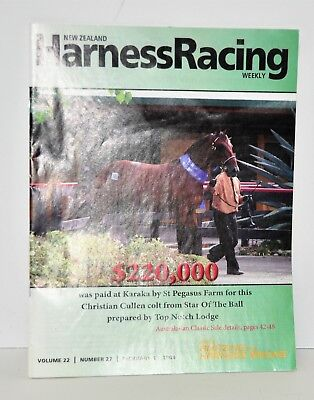 New Zealand Harness Racing Weekly Magazine~Standardbred Harness Racing Feb.2008