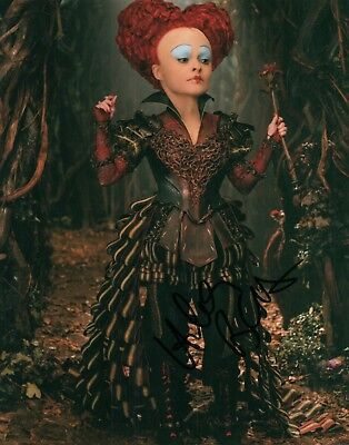 Helena Bonham Carter Alice In Wonderland Signed 8x10 Autographed Photo COA