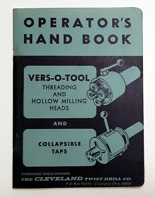 Vintage Vers-o-tool Threading And Hollow Milling Heads Operators Hand Book