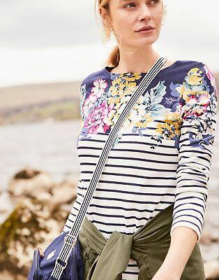 Joules Women Harbour Print   Long Sleeve Jersey Top Shirt  -