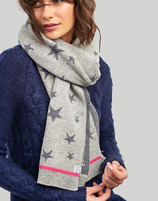Joules Womens Saffy Intarsia Scarf One In Grey Star In One Size