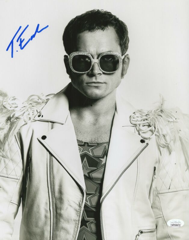 Taron Egerton Autograph 11x14 Photo Rocketman Elton John Signed JSA COA 2