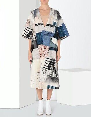 NWT MM6 Maison Margiela patchwork illusion oversized denim dress 42 M/L 6 8 10