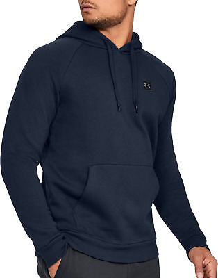 Under Armour Rival Mens Fleece Hoody Navy Stylish Gym Training Workout Hoodie S