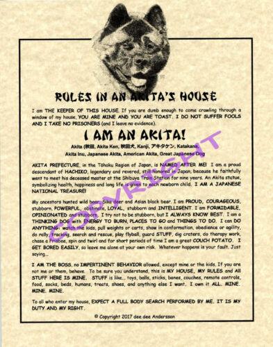 Rules In An Akita