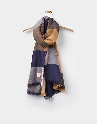 Joules Berkley Soft Handle Oblong Scarf in Warm Camel Check in One Size