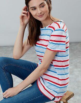 Joules Womens Nessa Stripe Lightweight Jersey T Shirt - RED MULTI STRIPE