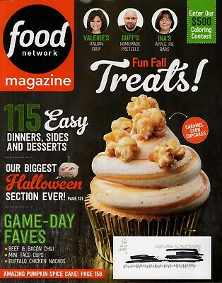 Halloween treats insert 50 tailgating snacks   Food Network Magazines recipes