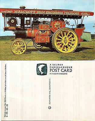 1919 GARRETT TRACTOR UNUSED COLOUR POSTCARD BY SALMON