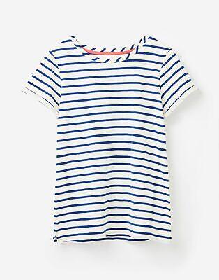 Joules  208570 Lightweight Jersey T Shirt - SOFT NAVY AND Cream STRIPE