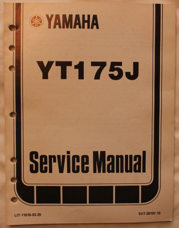 m Original 1982 Yamaha YT175J Service Manual