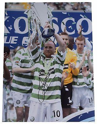 John Hartson SIGNED autograph 16x12 HUGE photo Celtic Football AFTAL & COA