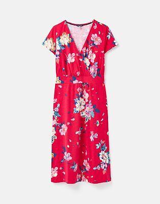 Joules  212418 Jersey Wrap Dress - DEVITO PINK FLORAL