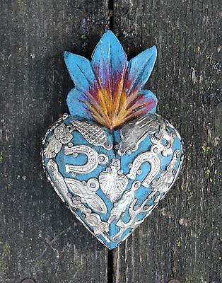 Small Wood Sacred Heart Milagros SOLD SEPERATELY! Folk Art Michoacán Mexico