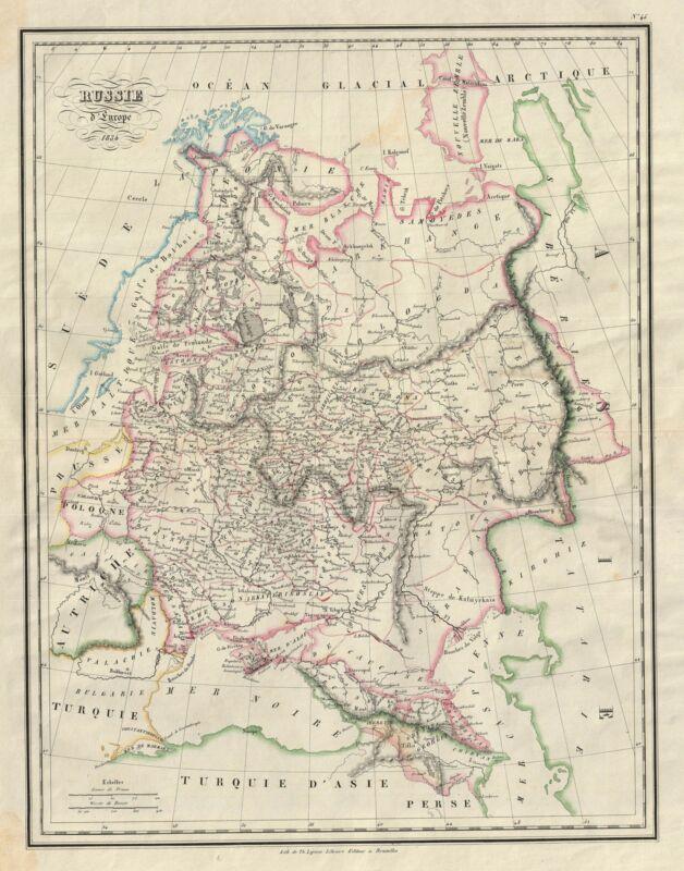 1834 Malte-Brun Map of European Russia