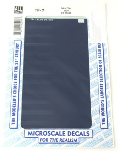 "All Scale Trim Film - Blue - Microscale #TF-7 (Size:approx 4-1/2"" x 7-1/2"")"