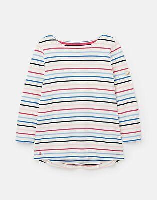 Joules  209041 3/4 Length Sleeve Jersey Striped Top - MULTI STRIPE
