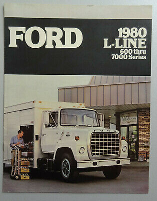 V18823 FORD L-LINE 600-7000 - CATALOGUE - 1980 - 22x28 - CND GB