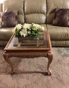 Xmas Special...Bleached oak coffee/end table.