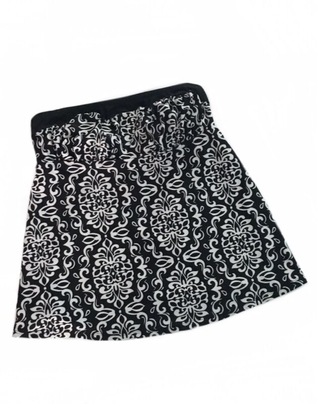 Liz Lange Maternity Tankini Swim Top Small Strapless Black & White