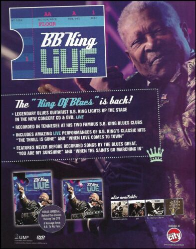 B.B. King Live 2008 King of Blues ad 8 x 11 advertisement print
