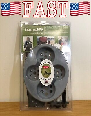 Tailgate-Mate Portable Party, Picnic, Beach, Gamers Table, Fishing, Hunting NEW!, used for sale  Shipping to India