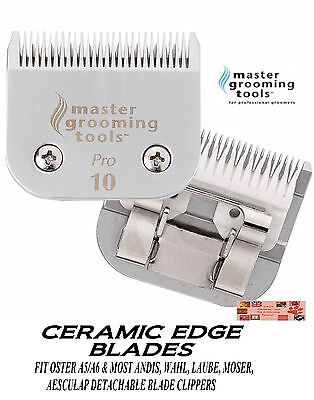 PRO CERAMIC Edge Pet Grooming 10 Blade*Fit Oster A5/A6 MOST Andis,Wahl Clipper