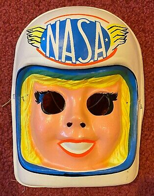 Vintage & Unused 1970's NASA Astronaut Girl Collegeville Halloween Costume Mask
