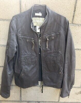 Mens 100% Cotton Cafe Racer DIESEL RISING SUN Jacket S