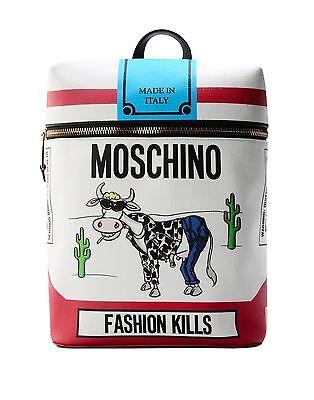 FW16 Moschino Couture Jeremy Scott Cigarette Box Cow BACKPACK Fashion Kills RARE