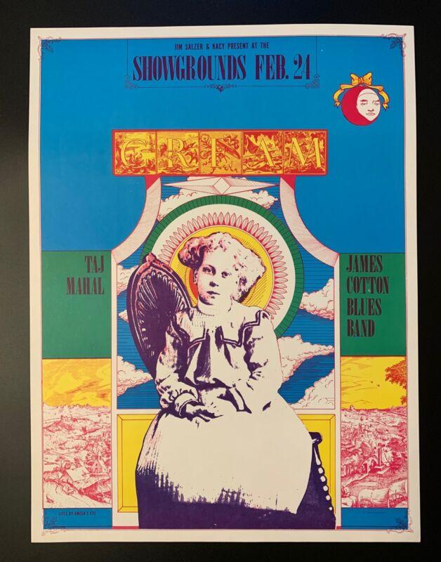Cream Concert Poster 1968 Taj Mahal Santa Barabara