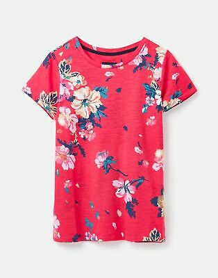 Joules  208574 Lightweight Jersey T Shirt - DEVITO PINK FLORAL