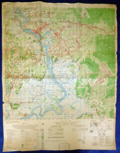 Rare MAP - BIEN HOA AIRBASE - LONG BINH POST - GIA DINH - NHA BE - Vietnam War