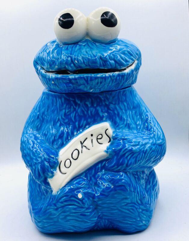 Vintage 1970s Handpainted Sesame Street Cookie Monster Cookie Jar Muppets