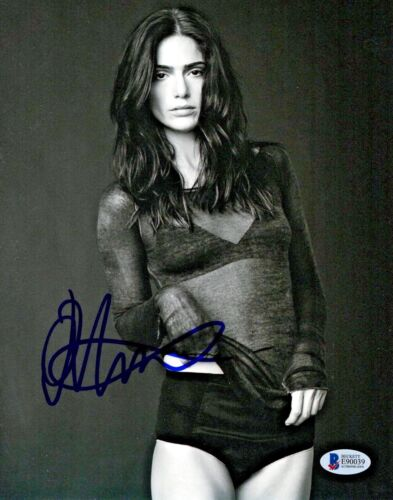 SEE THRU JANET MONTGOMERY SIGNED 8X10 PHOTO AUTHENTIC AUTOGRAPH BECKETT BAS 3