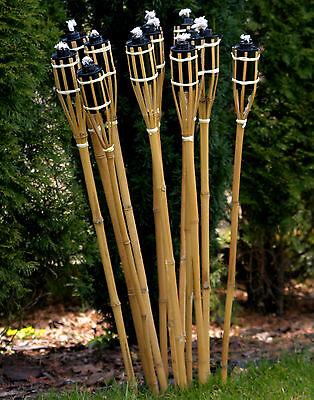 13 Stk Bambusfackeln Gartenfackel Bambus Garten Fackel Deko 90cm (2)
