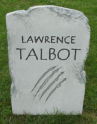 Halloween 'Lawrence Talbot' tombstone prop graveyard decoration 24