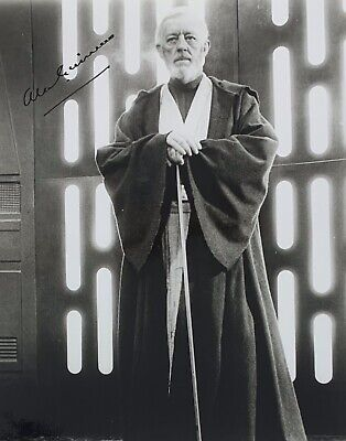 Sir Alec Guinness (Star Wars Obe Wan), Hand Signed Autograph 8 X 10 Photo.
