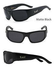 Mens LOCS OG Lowrider Biker Gangster Cholo Mob MIB Tough Black Wrap Sunglasses
