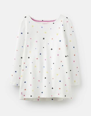 Joules  209052 3/4 Length Sleeve Jersey Printed Top - CREAM MULTI STAR