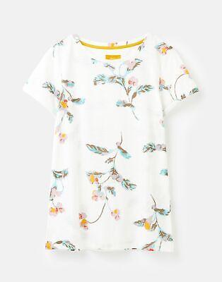 Joules  208574 Lightweight Jersey T Shirt - CREAM FLORAL