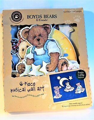 Boyd Bears & Friends 2002 6-piece Musical Wall Art