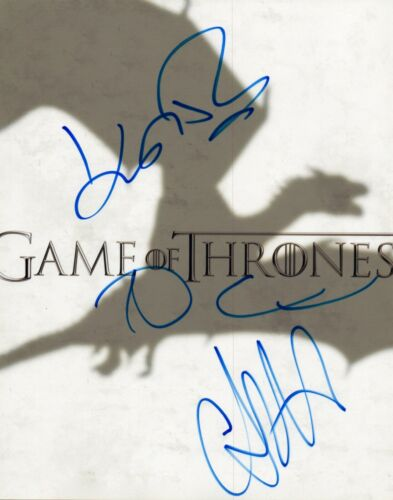 Game of Thrones Signed 8x10 Photo x3 John Bradley Dean-Charles Chapman Carice VD