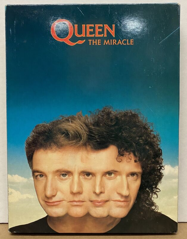 QUEEN The Miracle 1989 UK Promo Only CD Box Set FREDDIE MERCURY Brian May VG++