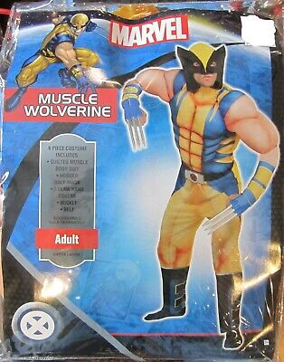 Classic Wolverine Costume (Wolverine Classic Muscle Adult Costume Marvel Comics Size Standard New)