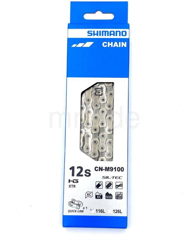 Shimano XTR CN-M9100 Bike Chain SIL-TEC W/Quick link 116Link,12-Spd HYPERGLIDE+