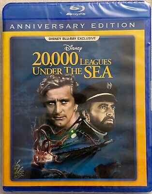 NEW DISNEY 20,000 LEAGUES UNDER THE SEA BLU RAY MOVIE CLUB EXCLUSIVE ANNIVERSARY