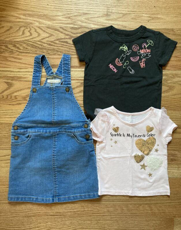 Girls Size 3t Copper Key Jumper Dress, Epic Threads Tee, Crewcuts Tee Lot Of 3