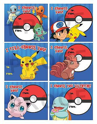 Pokemon Valentines for Classroom School Valentines Day Cards Printable